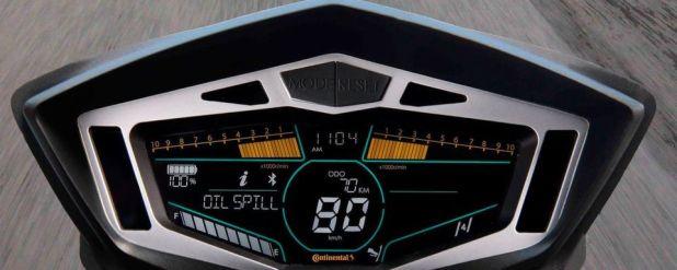 Das Motorradcockpit der Zukunft könnte auch Verkehrsinformationen aus der Cloud anzeigen.