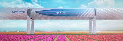 Die Vakuumröhre des Hyperloop-Projekts
