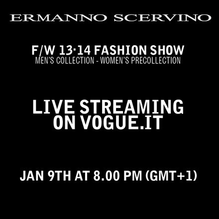 Ermanno Scervino live on Vogue.it