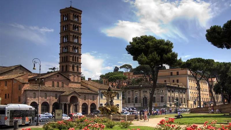 Santa Maria in Cosmedin, Rome, waar de relieken van Valentijn worden bewaard