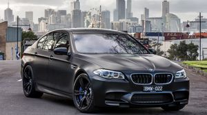 Bmw wallpapers hd  desktop backgrounds  images and pictures     Preview wallpaper bmw  m5  black  side view