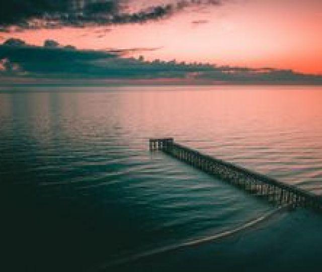 Preview Wallpaper Pier Dock Sea Dusk Shore