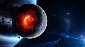 Space wallpapers full hd  hdtv  fhd  1080p  desktop backgrounds hd         Preview wallpaper space  cataclysm  planet  art  explosion  asteroids   comets