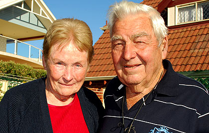 Healthcare concerns ... Coogee pensioners Bet and Bob Poole. Photo: Chris Thomson