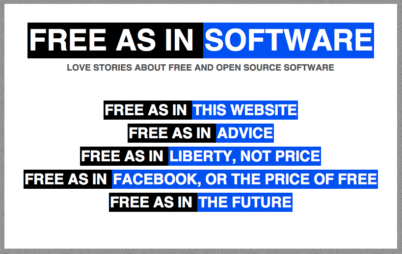 Free As in Software