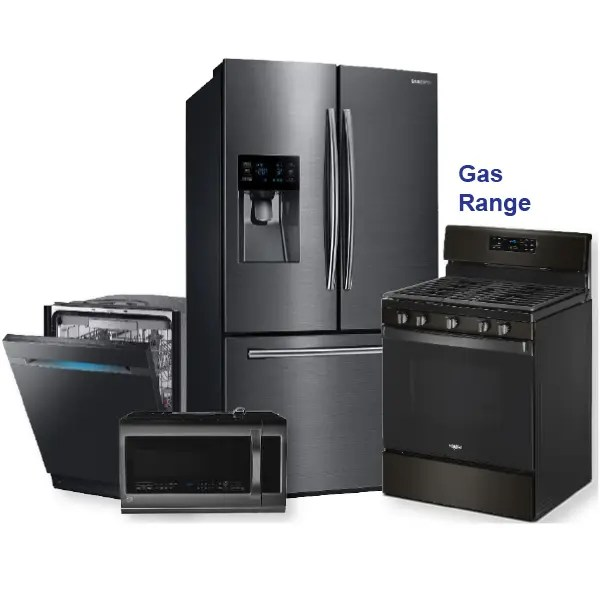 black stainless 36 inch french door refrigerator package open box