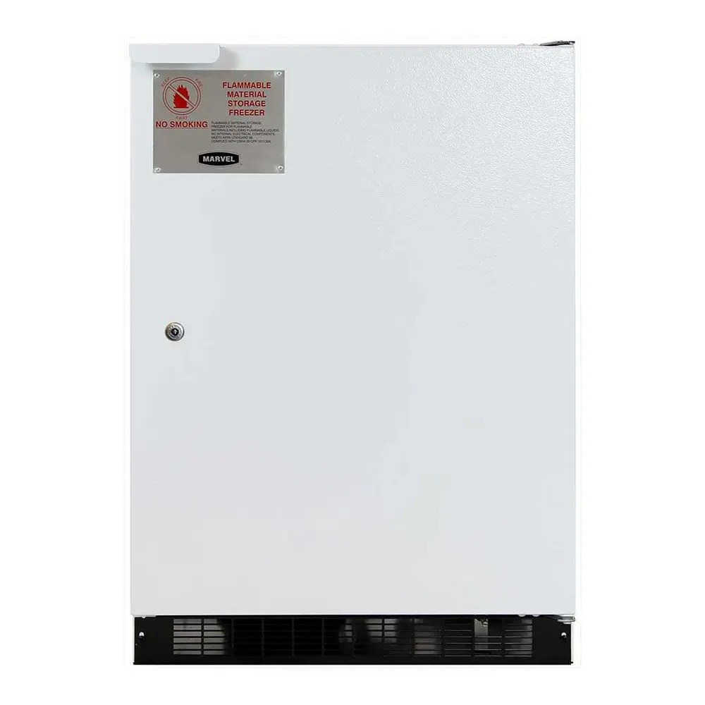 24-In Flammable Material All Freezer with Door Style - White