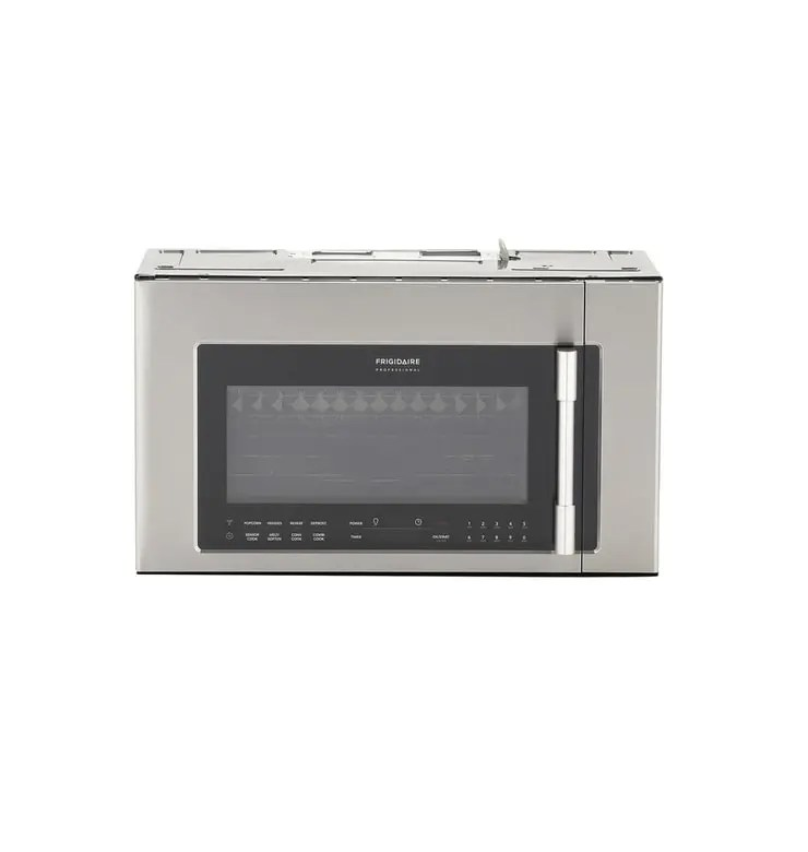 frigidaire professional 1 8 cu ft 2 in 1 over the range convection microwave