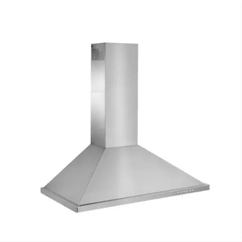 """WTT32 - 42"""" Brushed Stainless Steel Wall Mount Chimney Hood with Internal 675 Max CFM Blower"""