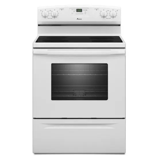 30-inch  Electric Range with Versatile Cooktop - White