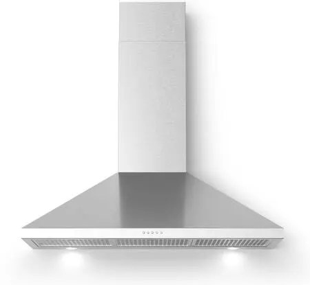Bravo Wall Mount Chimney Style Range Hood with 560 CFM LED Lighting in Stainless Steel