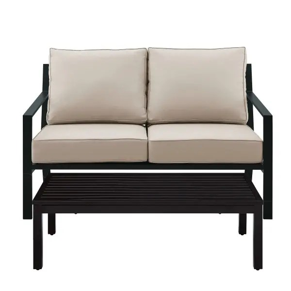 metal x back upholstered outdoor