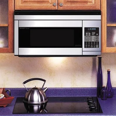sharp carousel over the range microwave oven 1 1 cu ft 850w stainless steel