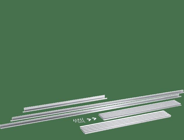 Louvered Single Trim Kit