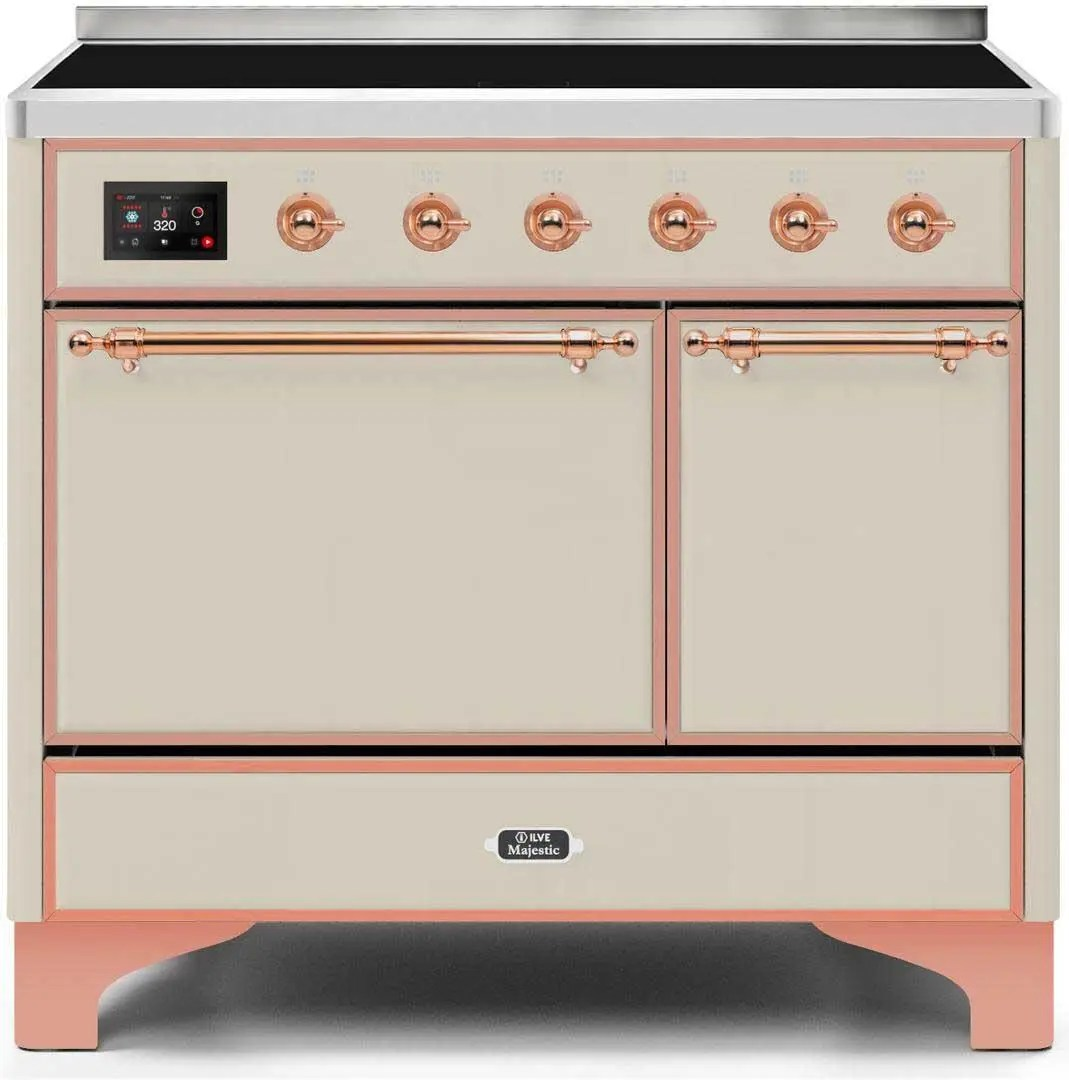 Majestic II 40 Inch Electric Freestanding Range in Antique White with Copper Trim