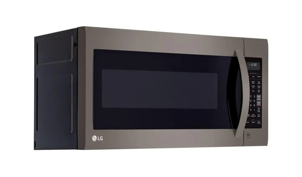 lg black stainless steel series 2 0 cu ft over the range microwave oven with easyclean
