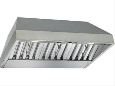 "34-3/8"" Stainless Steel Built-In Range Hood with 670 Max CFM Internal Blower"