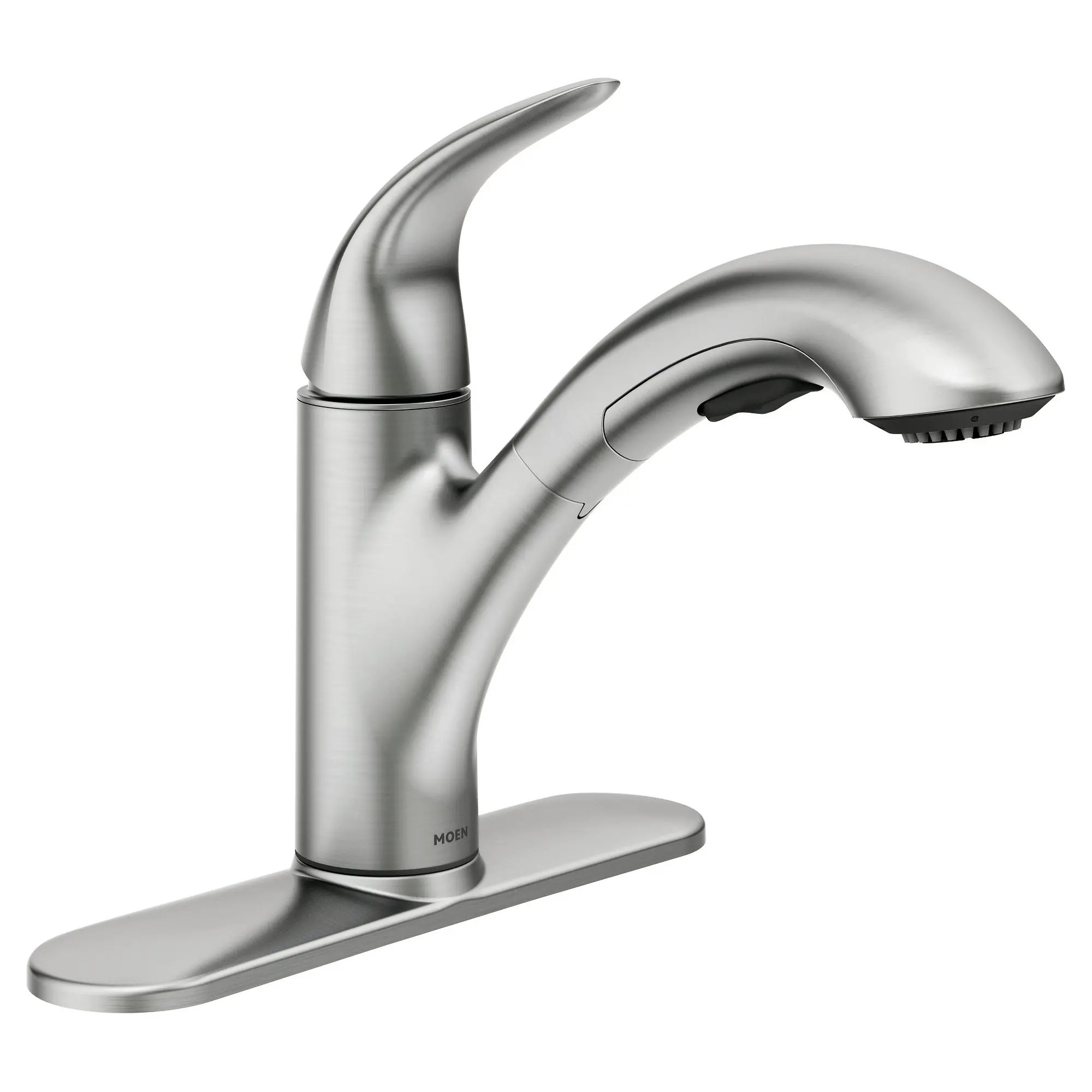 medina spot resist stainless one handle pullout kitchen faucet