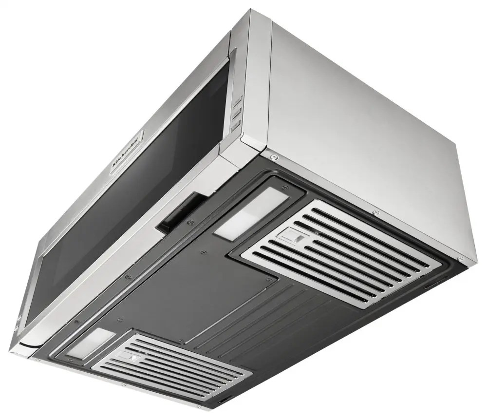 1000 watt low profile microwave hood combination stainless steel