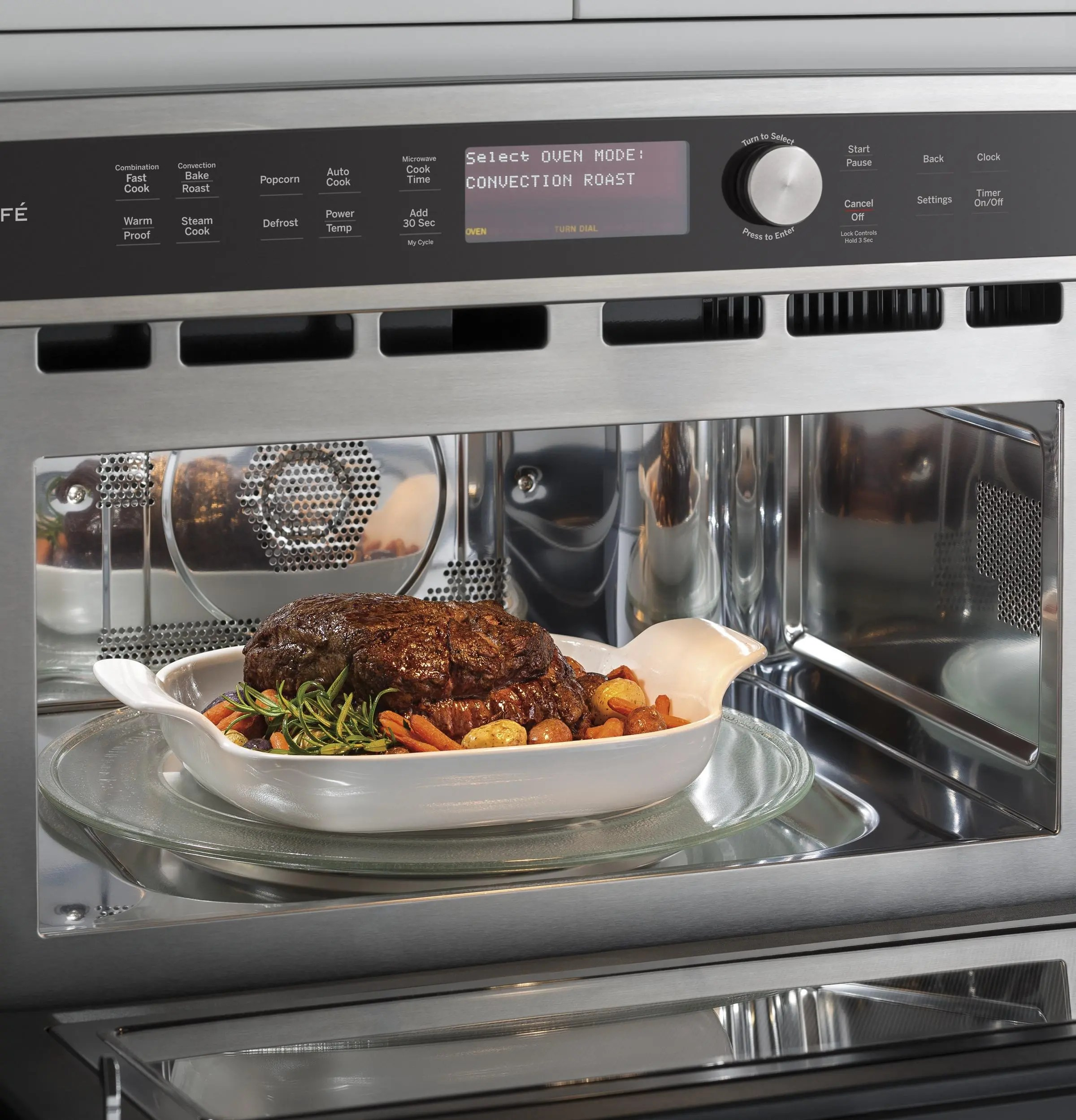 ge cafe series built in microwave convection oven