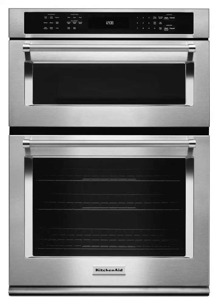 """30"""" Combination Wall Oven with Even-Heat™ True Convection (Lower Oven) - Stainless Steel Photo #1"""