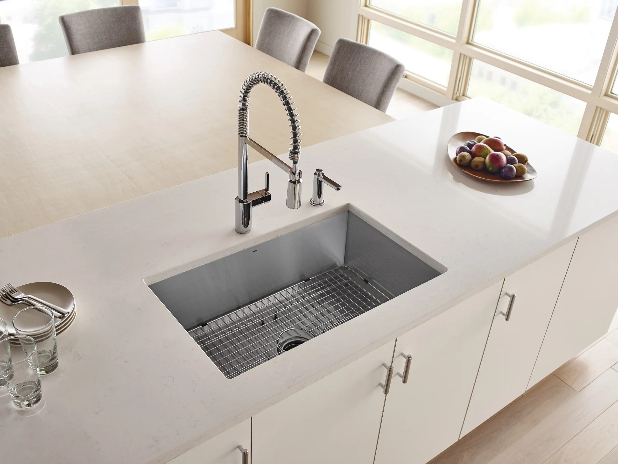 align chrome one handle pre rinse spring pulldown kitchen faucet