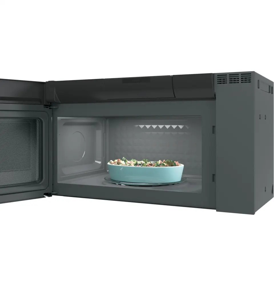 ge profile 2 1 cu ft spacemaker over the range microwave oven black stainless steel pvm2188bmtsc