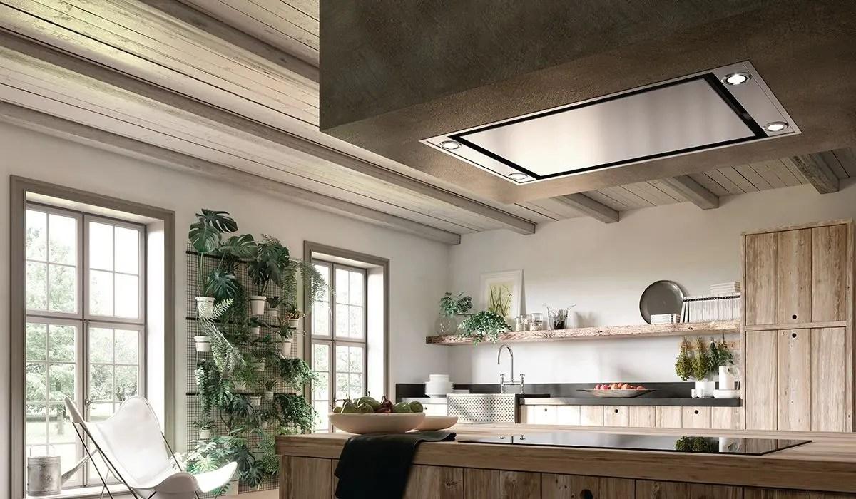 "36"" X 19"" ceiling mount stainless steel island hood"