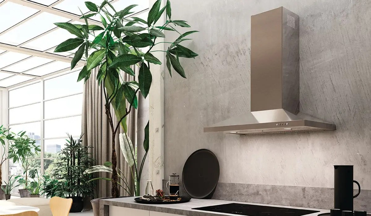 """36"""" pyramid shape wall hood with Variable Air Management"""