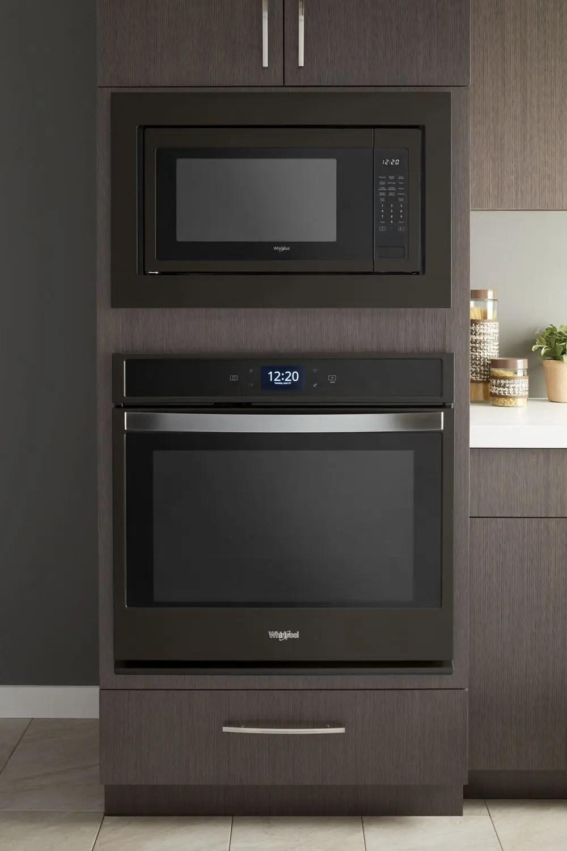 microwave trim kit black stainless