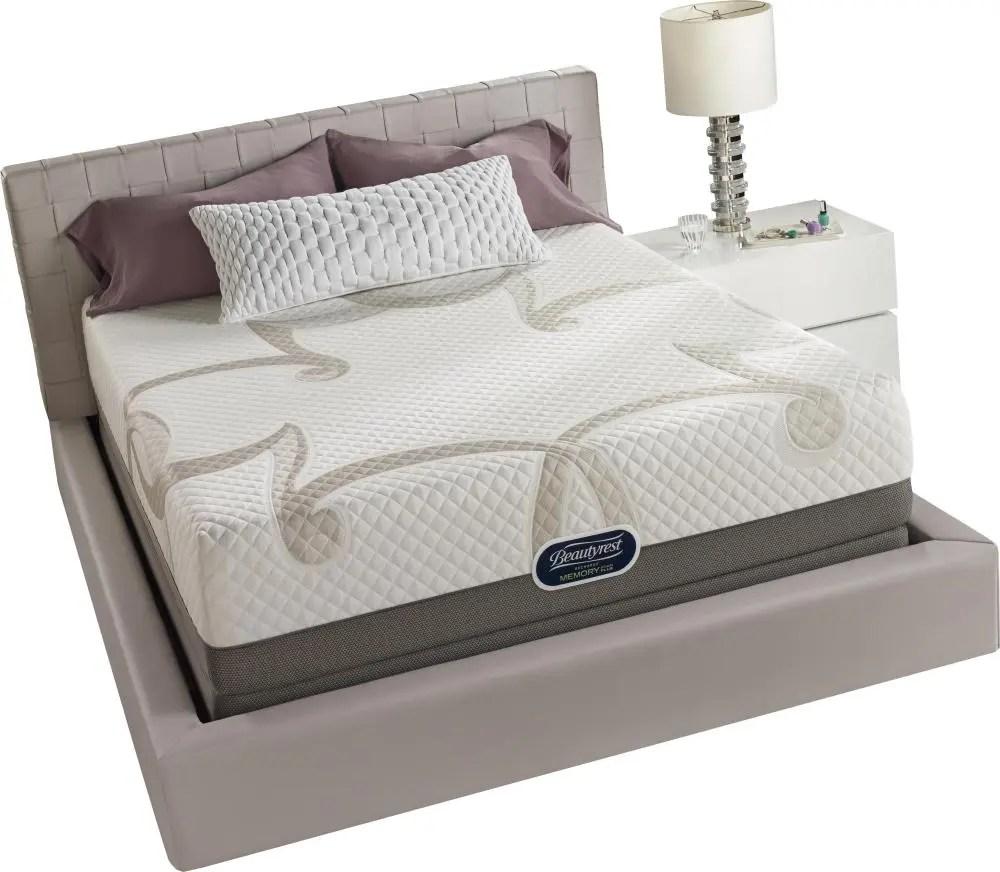 beautyrest recharge memory foam plus series 4 queen floor model