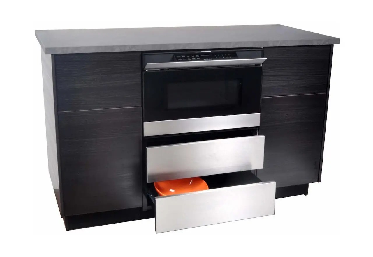 counter microwave drawer oven pedestal