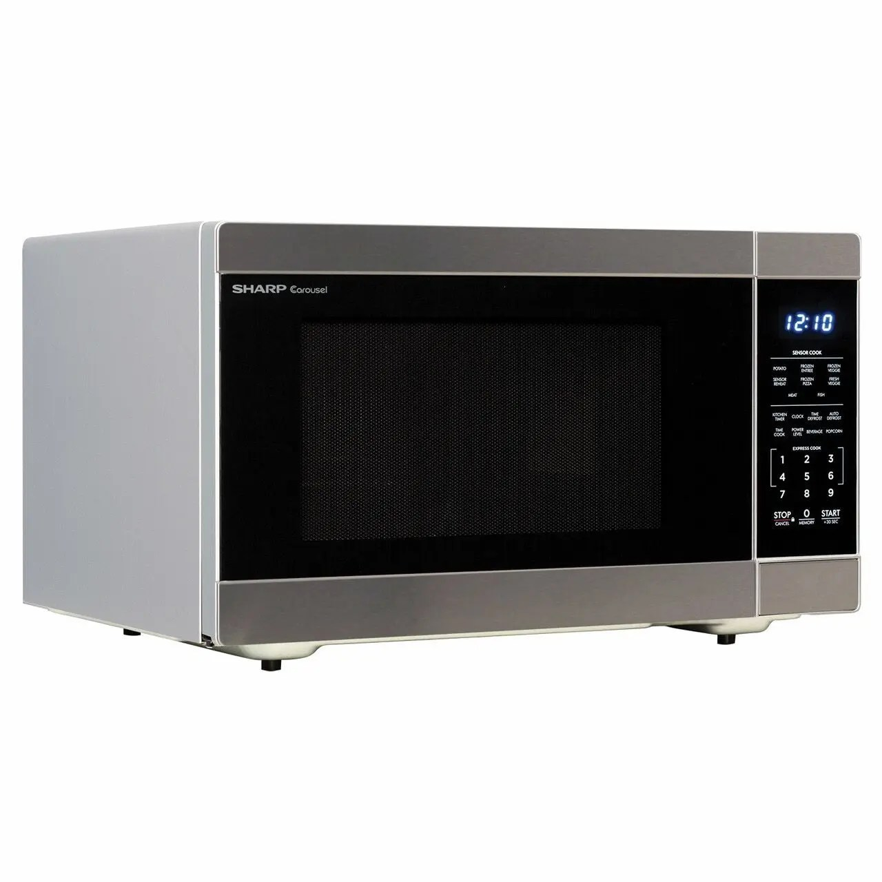 1 6 cu ft 1100w stainless steel countertop microwave oven