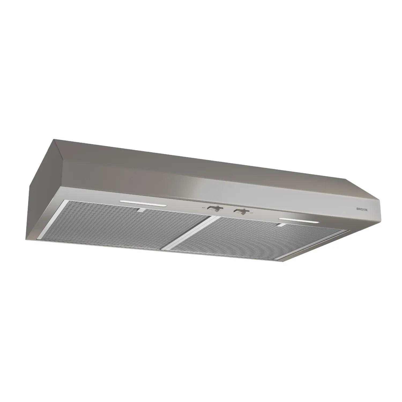 30-Inch Convertible Under-Cabinet Range Hood, 250 CFM, Slate