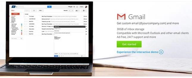 Comment créer un site Web d'entreprise - g suite gmail