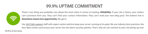 a2 hosting uptime commitment