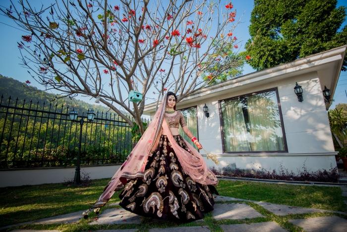 colour of your wedding lehenga
