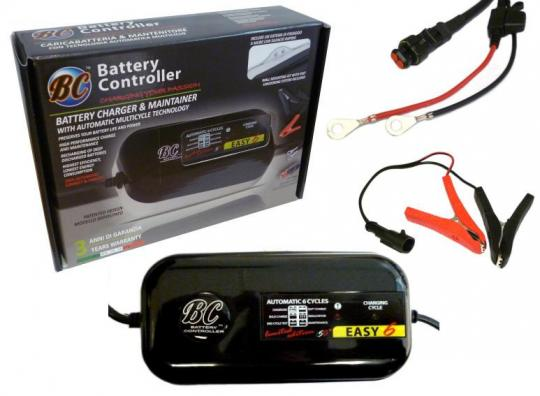 Battery Charger BC Easy 6 EURO - Automated Charger (protects from overcharging)