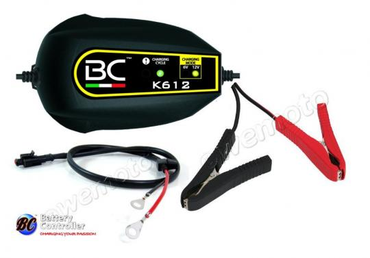 Battery Charger BC K612 - EU Plug - 6 Volt And 12 Volt Automated Charger (protects from overcharging)
