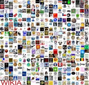 Logos von Wikia-Wikis