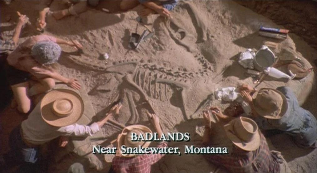 "Dig scene at ""Snakewater, Montana"" from Jurassic Park"