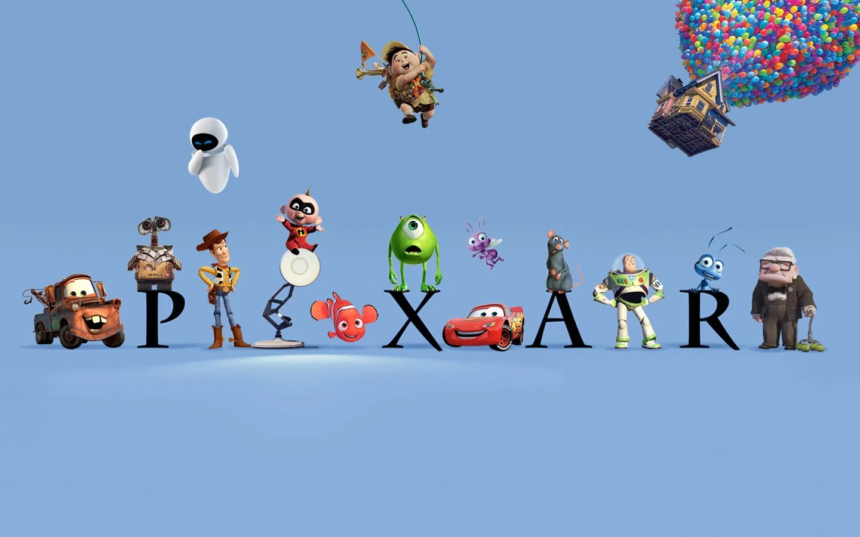Pixar logo, with flourishes