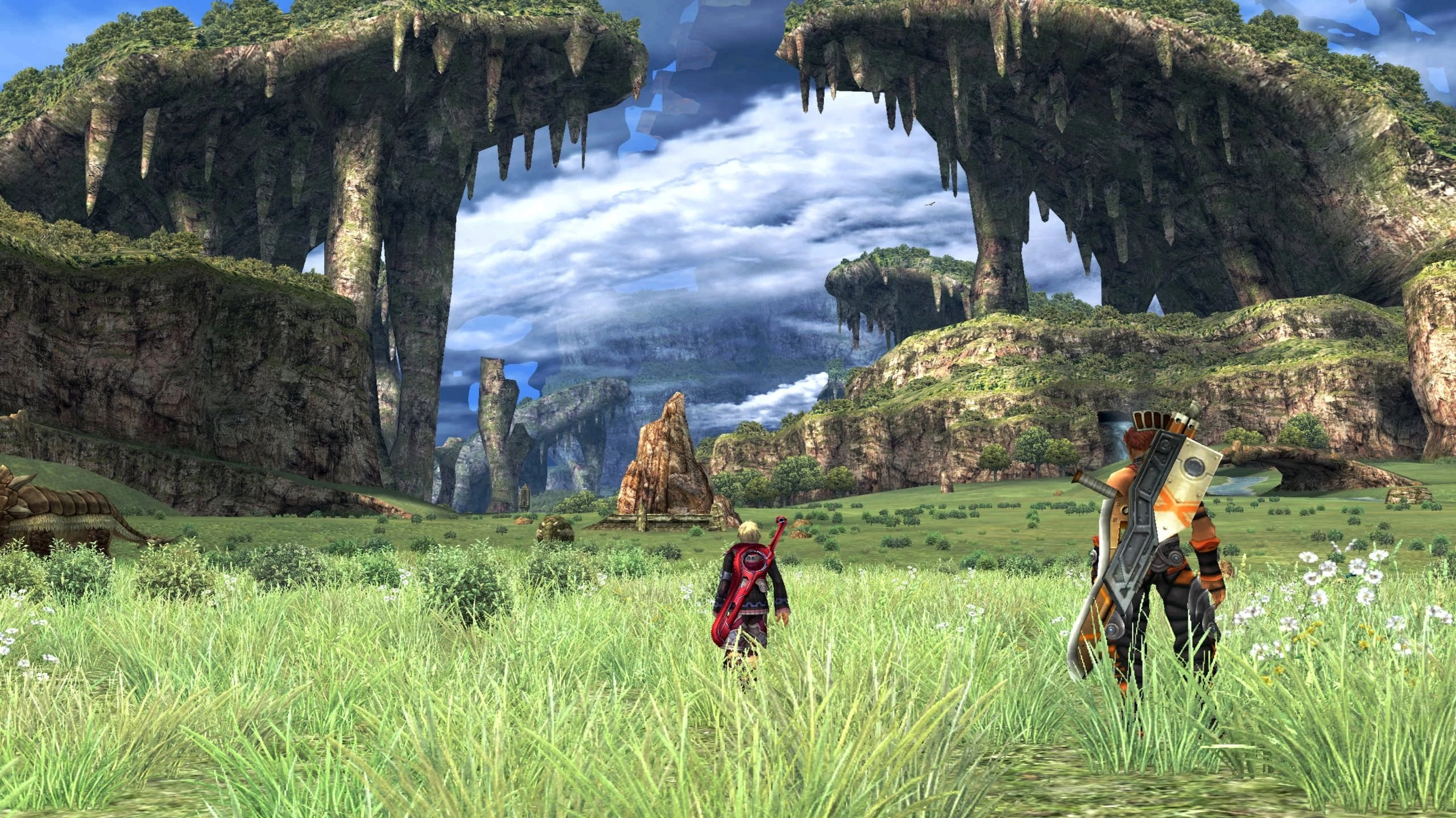 Screenshot of the Gaur Plain. A surprising amount of this landscape is explorable.