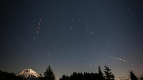 Le Geminidi viste dalla regione del Tokai,