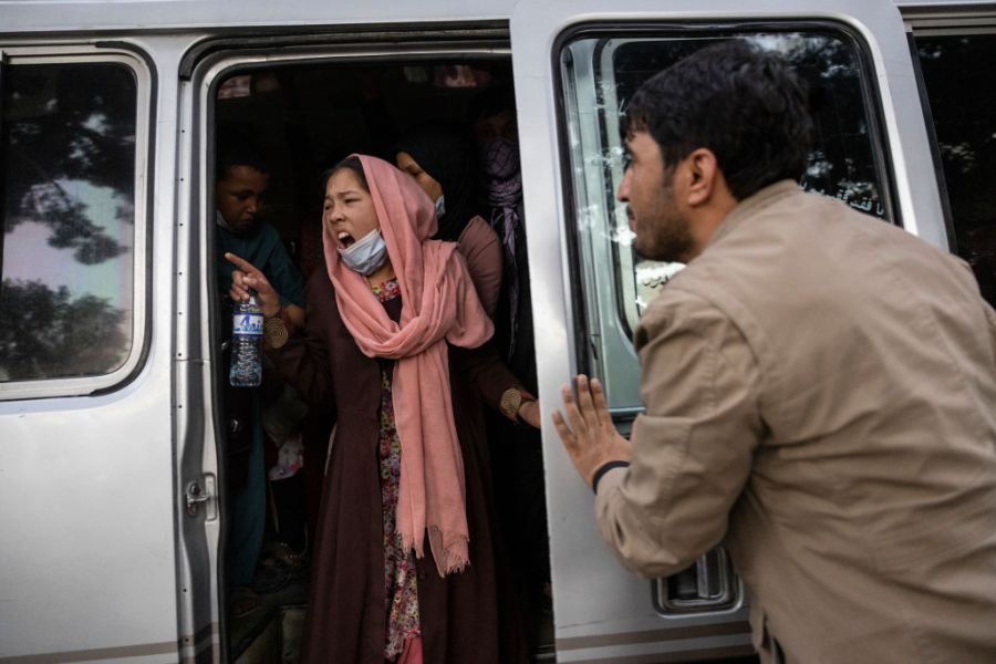 Donne a Kabul, in Afghanistan