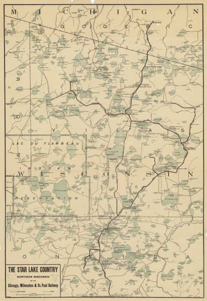 Iron Cities County Map Wisconsin