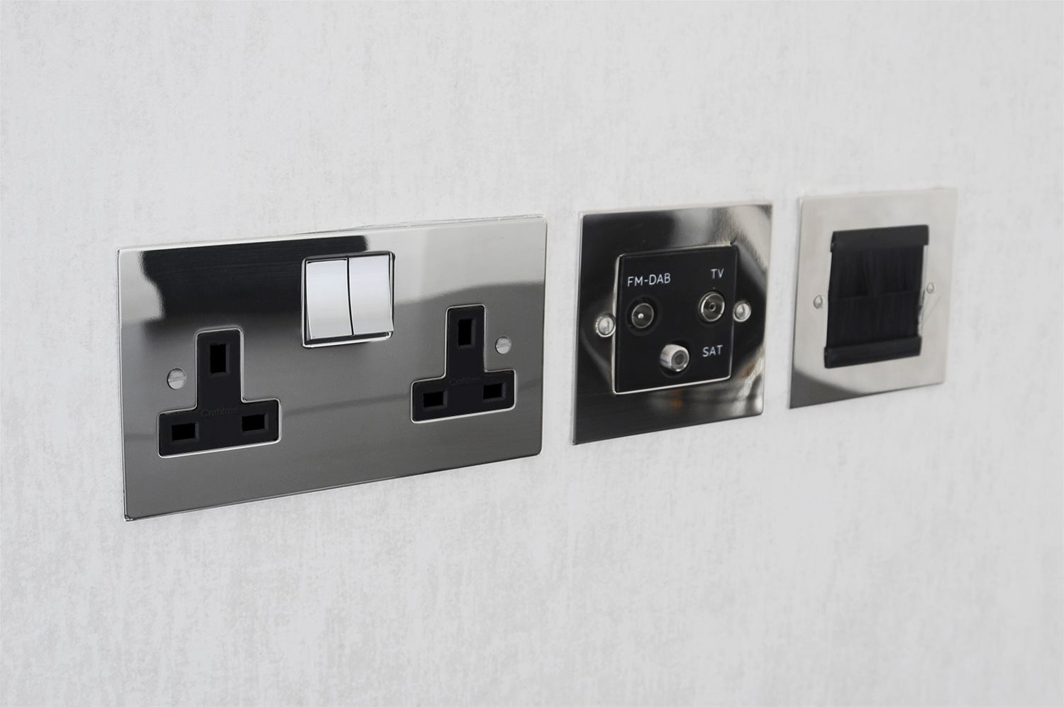 Architrave Switch 1 Gang Dimmer Polished Stainless Steel