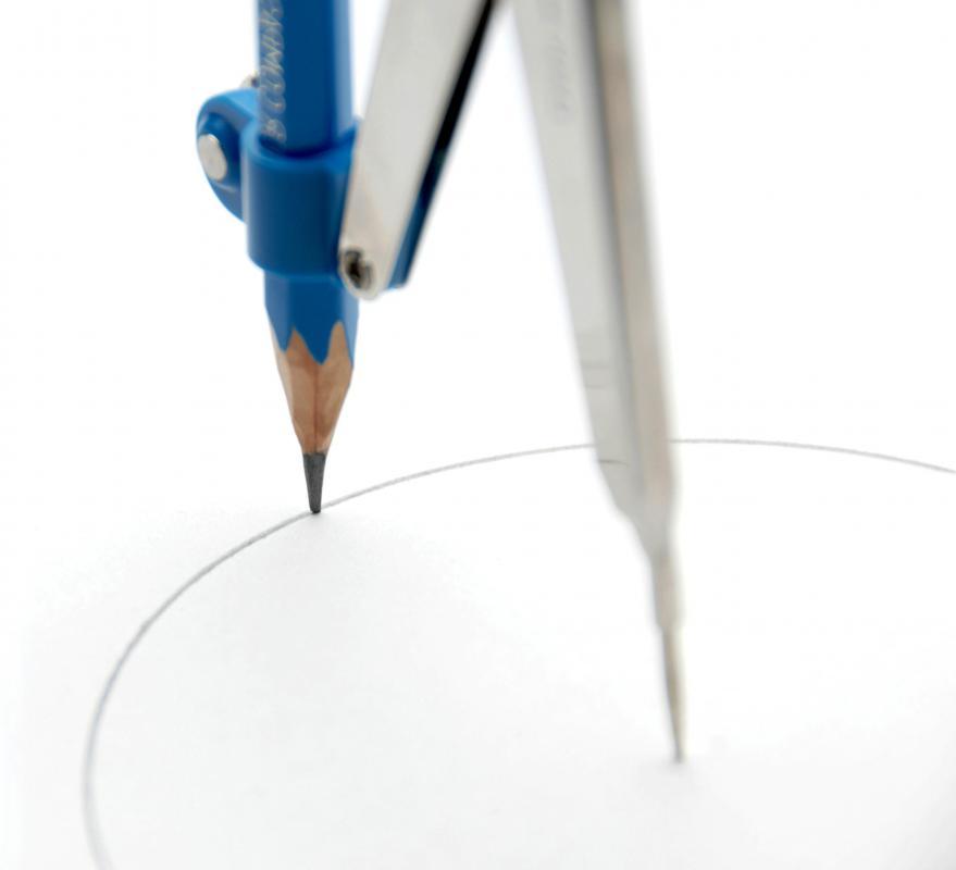 Um círculo por um compasso