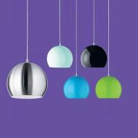Kugelförmige Pendelleuchte aus Metall im Retro Design   WOHNLICHT
