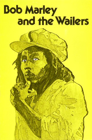 Bob Marley and the Wailers original poster from Wolfgang's Vault
